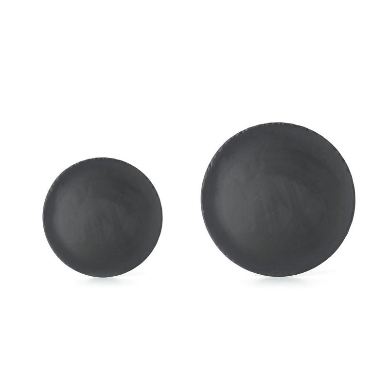 Basalt round dinner plates 2 sizes ...  sc 1 st  Revol & slate stone feel round dinner plate Basalt