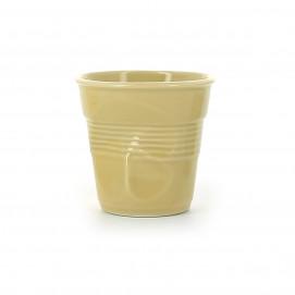 Crumpled coffee cups sand