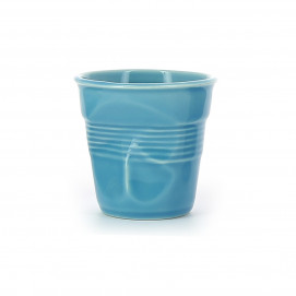 Crumpled  coffee cups caribbean blue