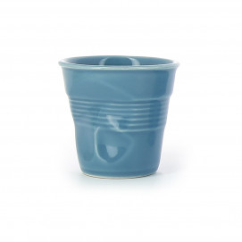 Crumpled coffee cups blue horizon