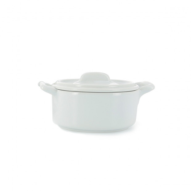 Belle cuisine white individual round cocotte