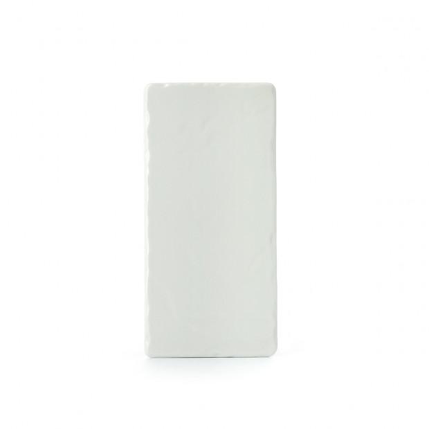 Basalt white rectangular appetizer plates 3 sizes