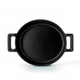 Belle Cuisine black cast iron style crème brulee dish
