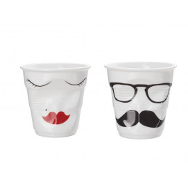 Crumpled coffee cups white