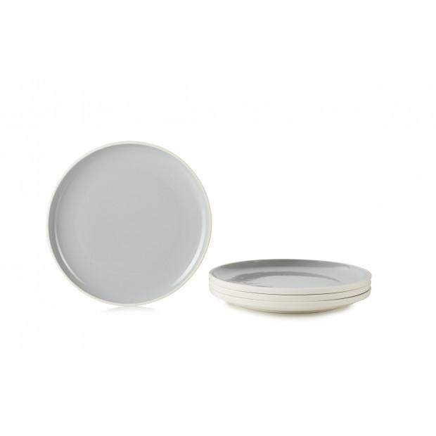 set of 4 color lab plate ø9.75  sc 1 st  Revol Porcelain & Set of 4 dinner plates colorful dinnerware. Made in France REVOL