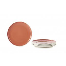 "Set of 4 Color Lab dinner plates ø9.75"" 4 colors"