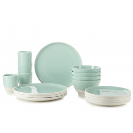 Set of 16 pieces color lab celadon green
