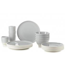 Set of 16 pieces Color Lab Stratus Grey
