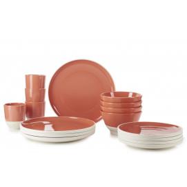 Set of 16 pieces color lab capucine  sc 1 st  Revol Porcelain & Revol porcelain dinnerware sets - REVOL USA