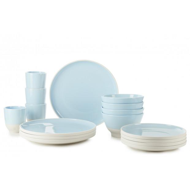 Set of 16 pieces color lab fjord blue