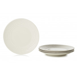 "Set of 4 Arborescence dinner plates ø10.5"" 3 colors"