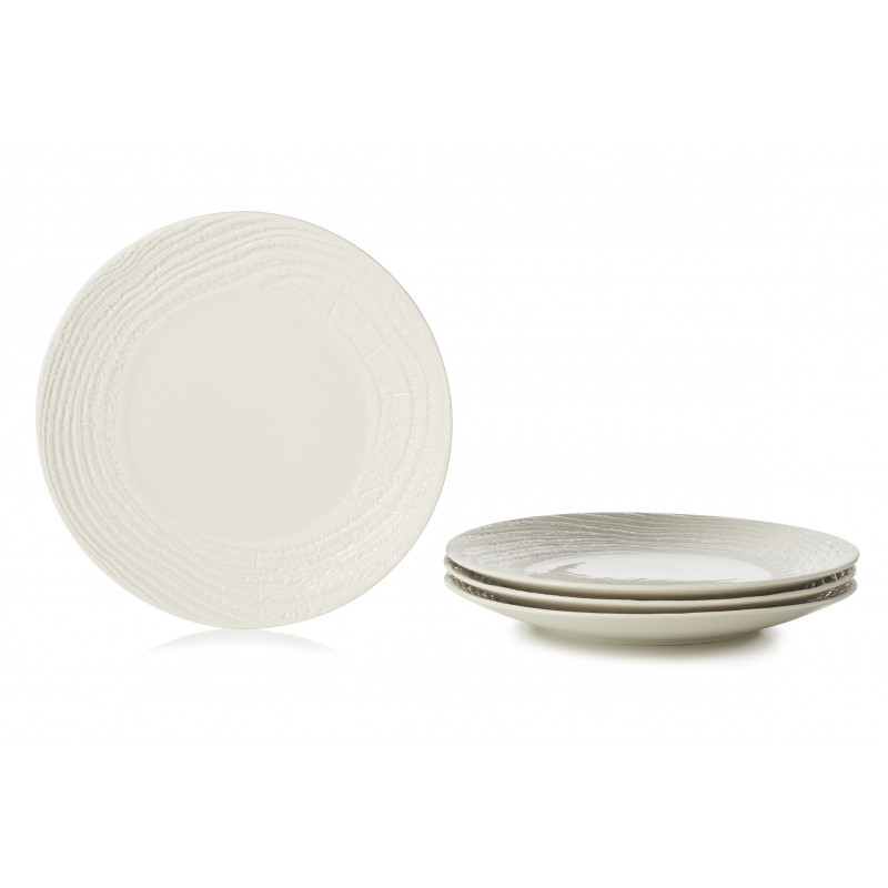 Set Of 4 Porcelain Dinner Plates Porcelain Faux Bois By Revol