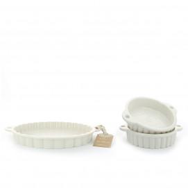 Tart dish set les naturels 2 colors  sc 1 st  Revol & Revol porcelain: tart pan and pie pan - REVOL USA