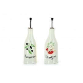 Set of 2 provence olive-oil bottle and vinegar bottle