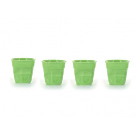 set of 4 crumpled cups verbena 2 sizes