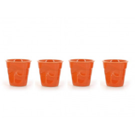set of 4 crumpled cups clementine 2 sizes