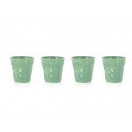 set of 4 crumpled cups sage 2 sizes