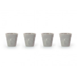 set of 4 cappuccino cups taupe