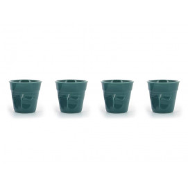set of 4 cappuccino cups laguna green