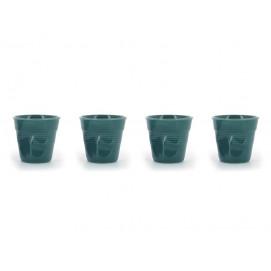 set of 4 cappuccino cups laguna green