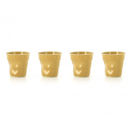 set of 4 cappuccino cups saffron