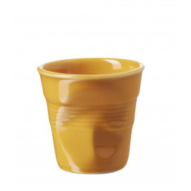 Crumpled coffee cups apricot