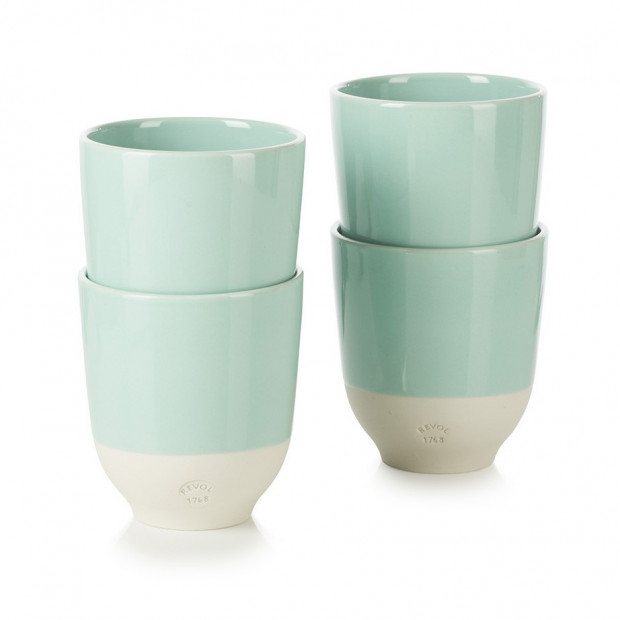 set of 4 color lab tea cup