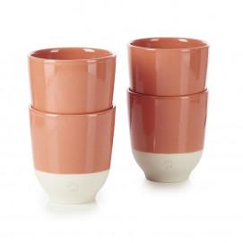 Set of 4 Color Lab tea cups 4 colors