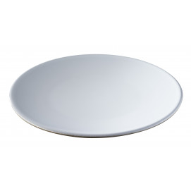 Solid white bread plate