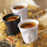 Crumpled coffee cups satin black