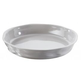 flan dish crumpled taupe