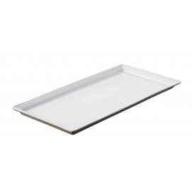 Eclipse white rectangular tray