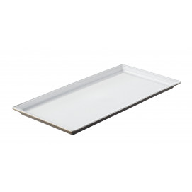 rectangular tray white 10.5 x 5
