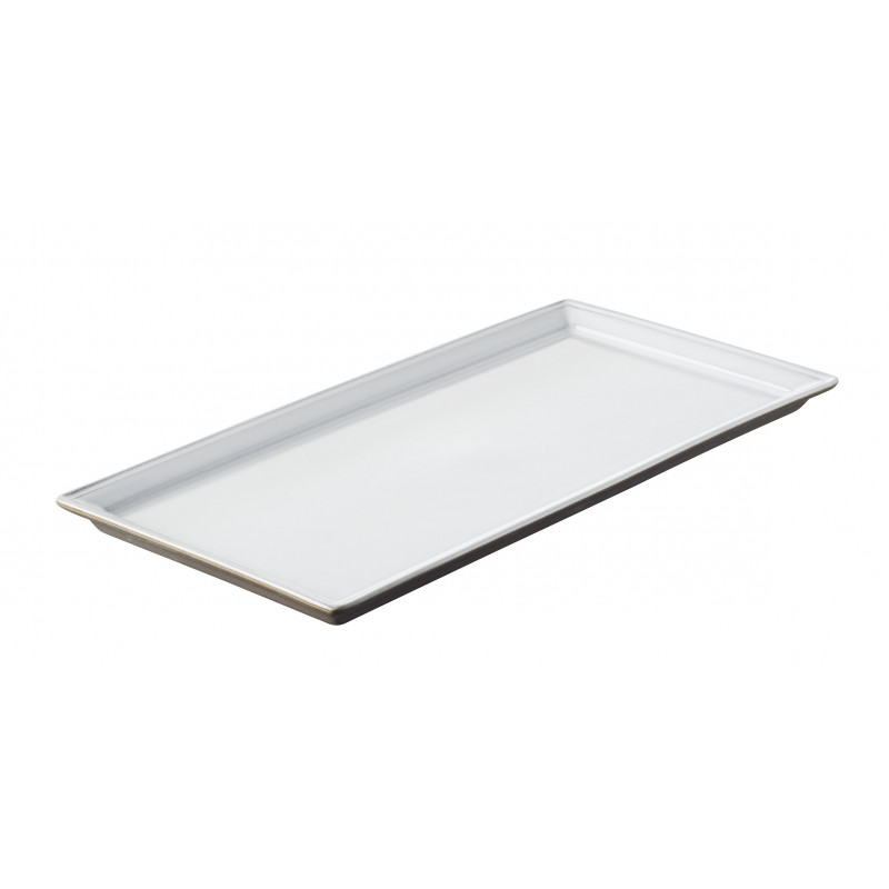 Black Ceramic Clay Tray With White Glaze By Revol On Sales