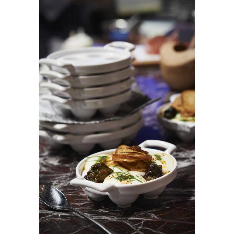 Belle cuisine white porcelain escargot dish revol for Belle cuisine