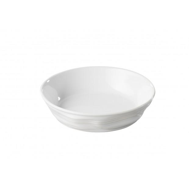 Assiette à crème brûlée Froissé en porcelaine