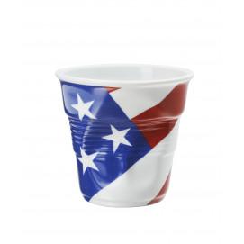 tasse cappuccino Froissé Drapeau en porcelaine