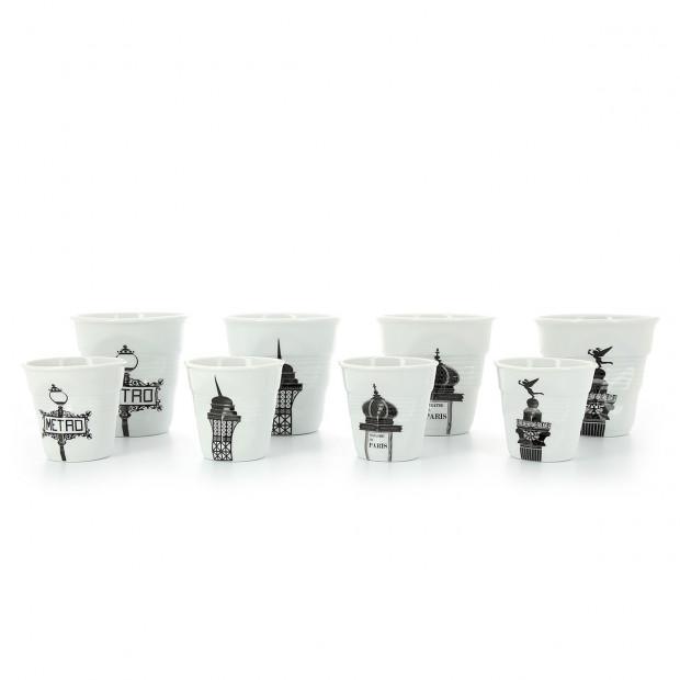 tasse cappuccino Froissé Balade à Paris en porcelaine