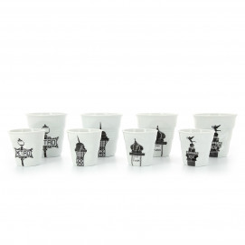 tasse espresso Froissé Balade à Paris en porcelaine