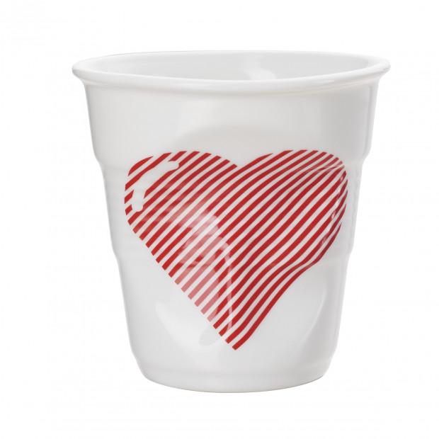 tasse cappuccino Froissé Cœur & Pique en porcelaine