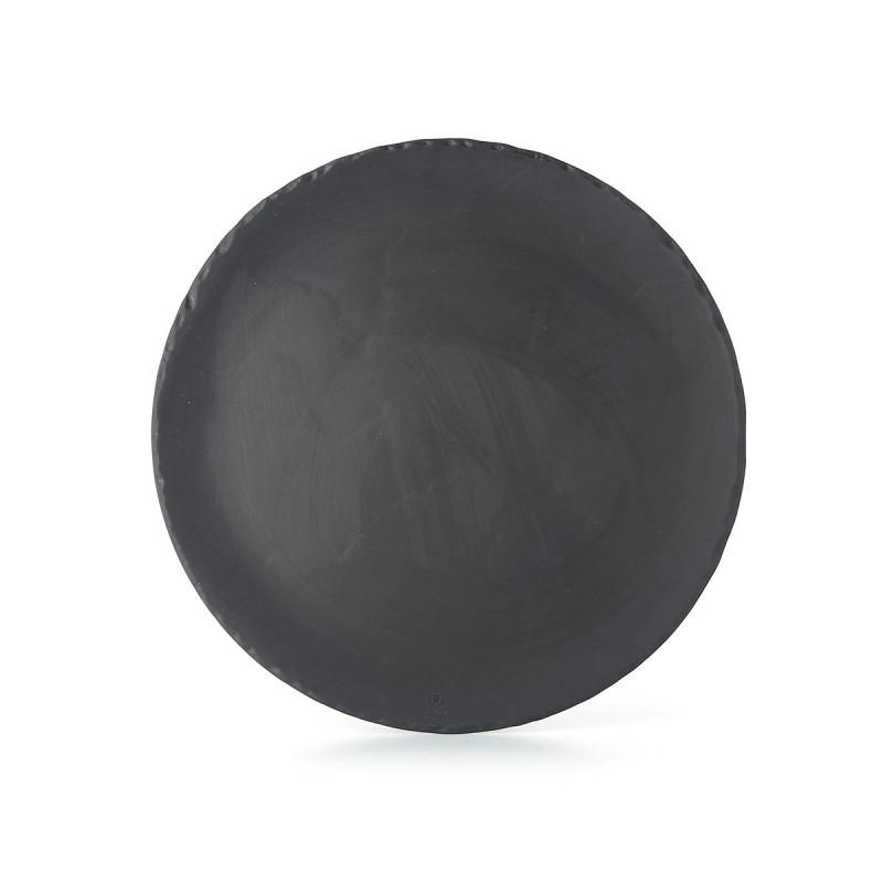 assiette pizza en c ramique effet ardoise. Black Bedroom Furniture Sets. Home Design Ideas