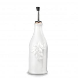 Bouteille huile d'olive blanche en porcelaine 25 cl