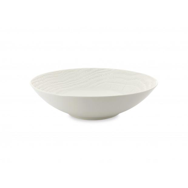 Saladier coupe en porcelaine effet bois