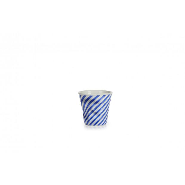 tasse à café Froissés Berlingot en porcelaine
