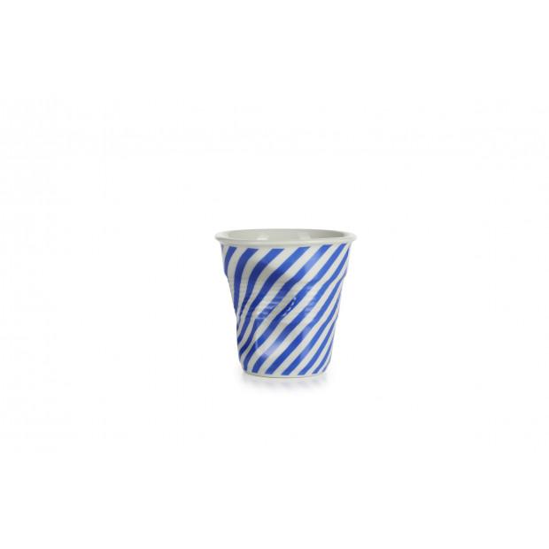 tasse à cappuccino Froissés Berlingot en porcelaine