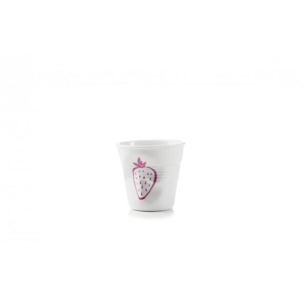 Tasse à café froissé summer fruits en porcelaine