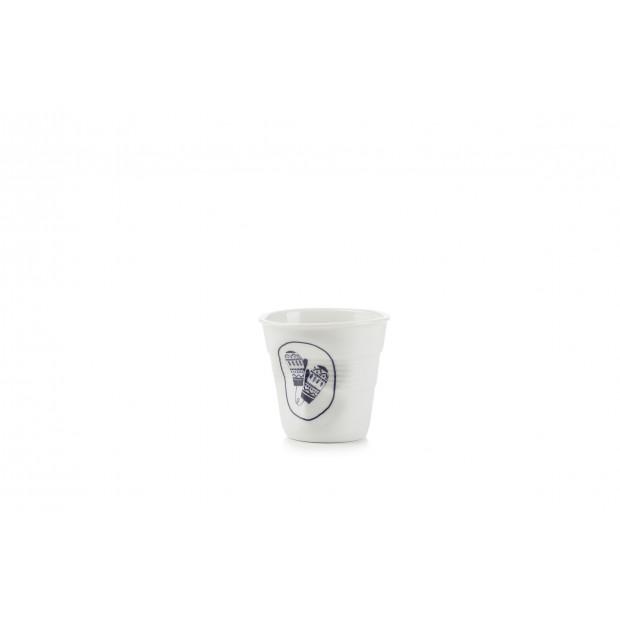 Tasse espresso Froissé Winter chic en porcelaine