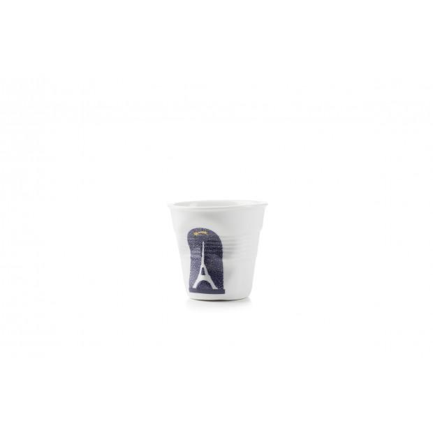 Tasse espresso Froissé Magic shadow en porcelaine
