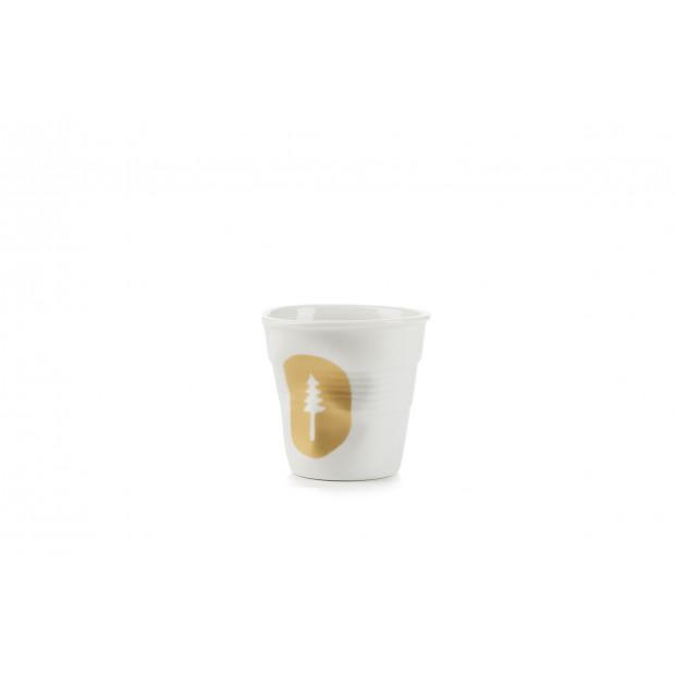 Tasse cappuccino froissé summer fruits en porcelaine