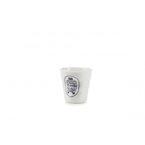 Tasse cappuccino Froissé Tree print en porcelaine